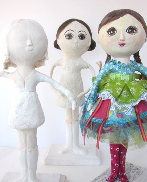 Custom Mixed Media Paper Mache Art Doll
