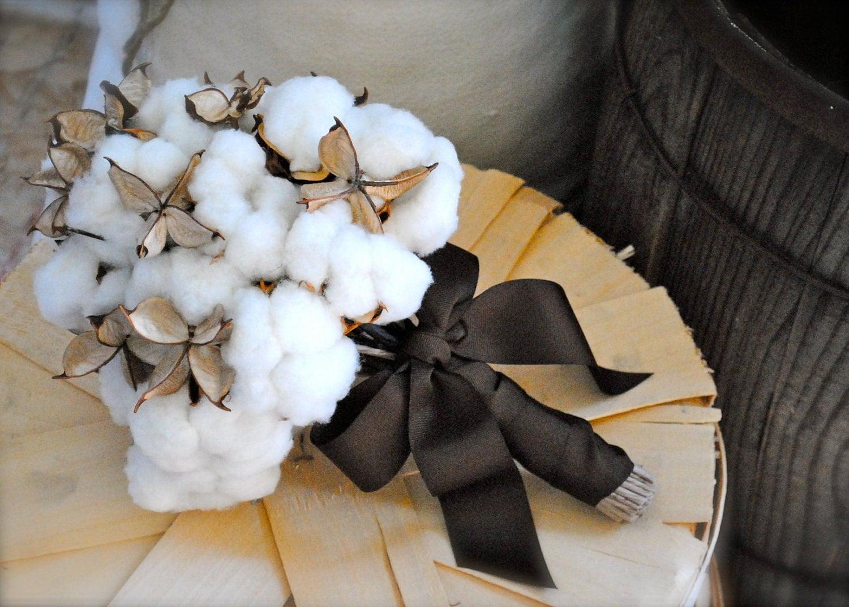 Хлопок Болл Свадебные букеты - Красивые - натуральный хлопок