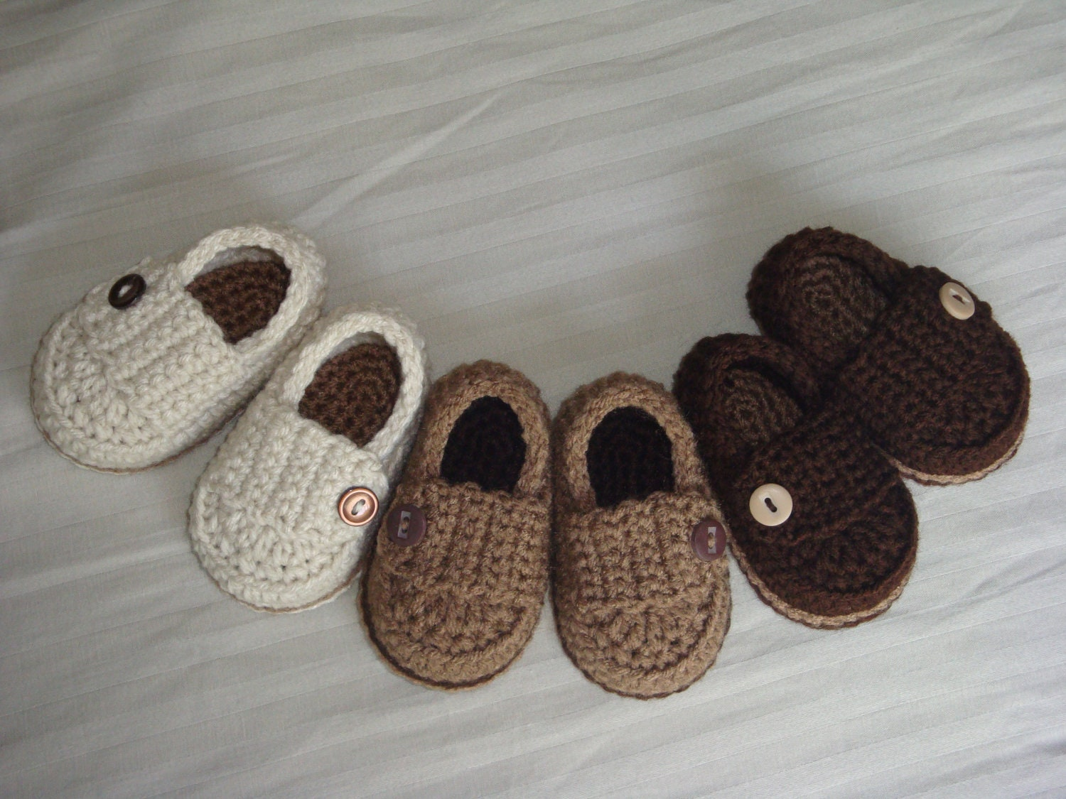 Baby Boy Button Loafers Made to Order Booties by asimplebee