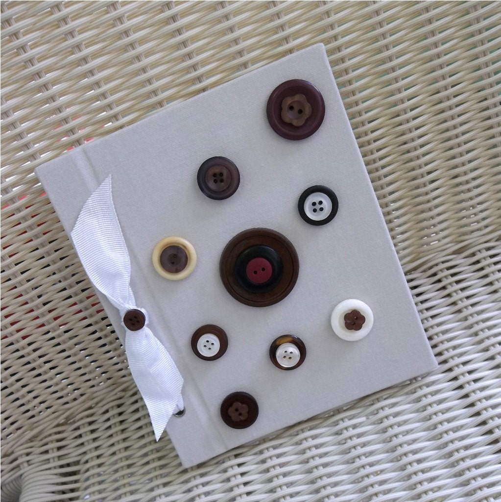 Photo Album Buttons, Bow, - Brown, Beige, Tan