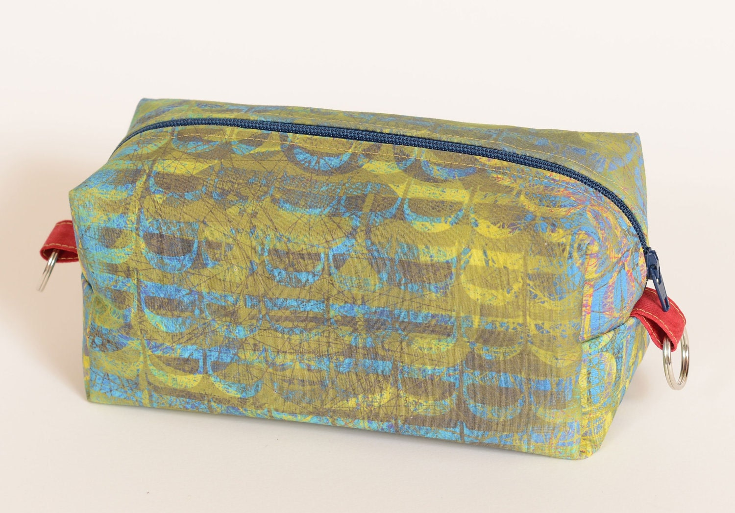 Travel Bag, Custom Printed Fabric, Yellow Letter D