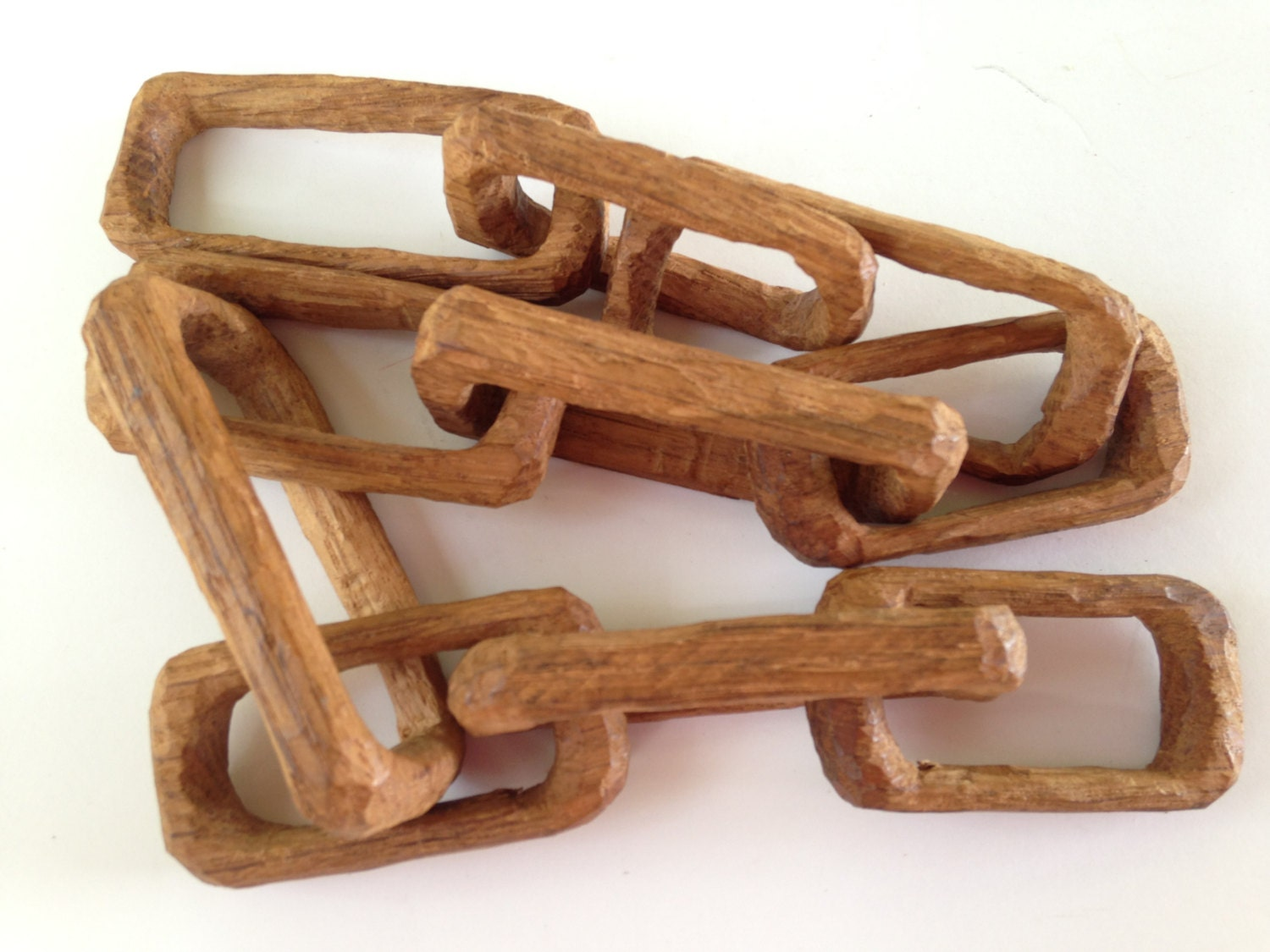 Hand Carved Wooden Chain