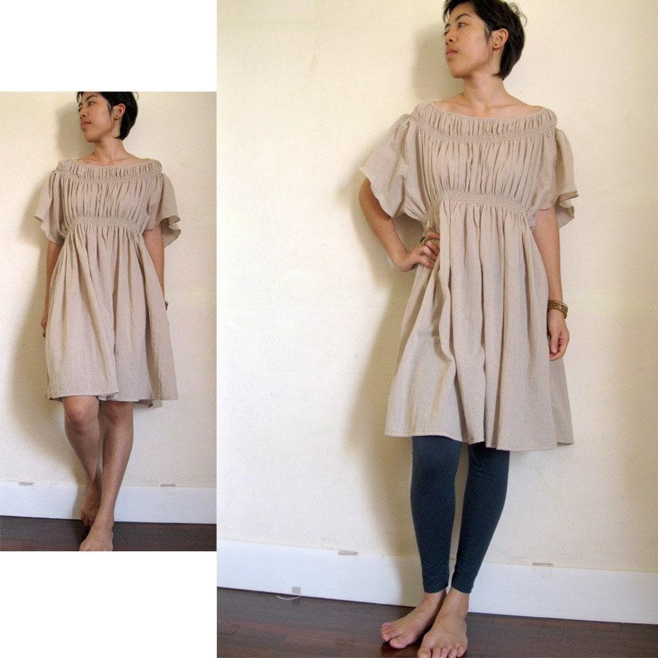 Boho Hippie Short Soft Cotton Dress  S- XL (M)