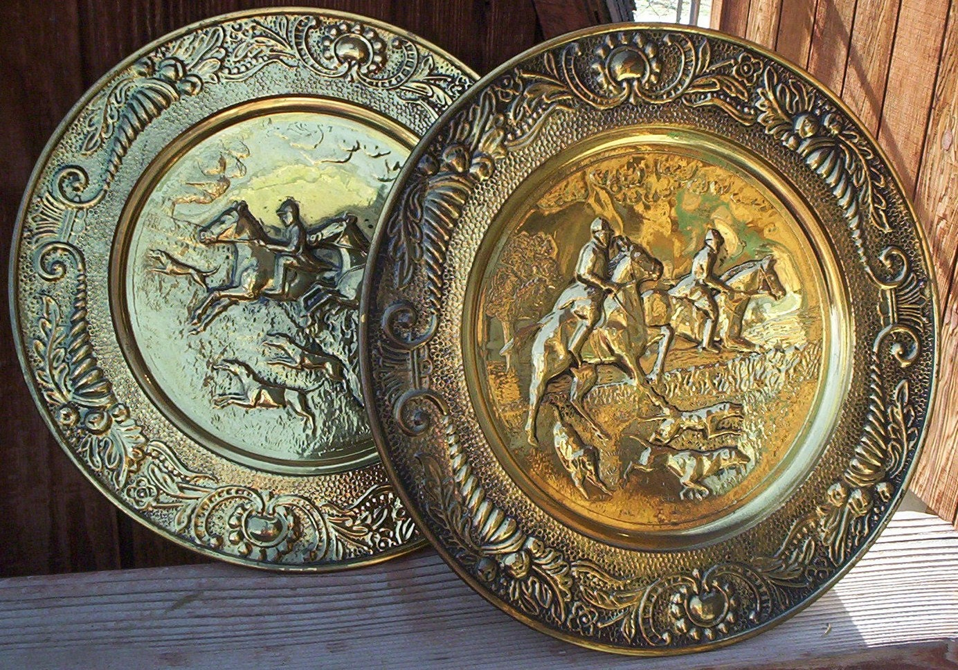 Brass Wall Hanging Pair of Brass Wall Decor Made by THEOLDGARAGE
