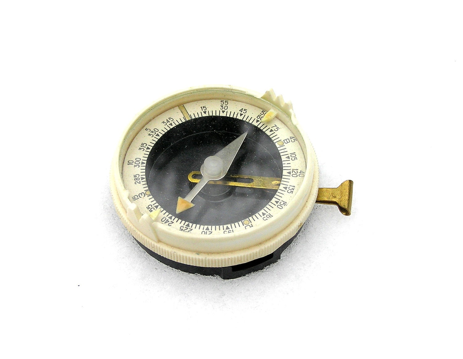 Vintage compass collectibles black and white 1970s - SoYesterdaySoCool