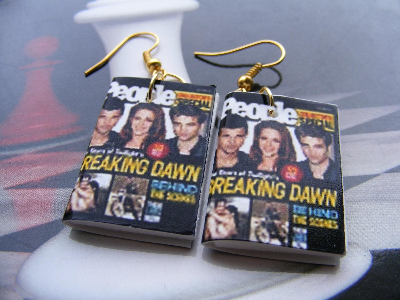 Earrings Breaking Dawn Miniature Magazines