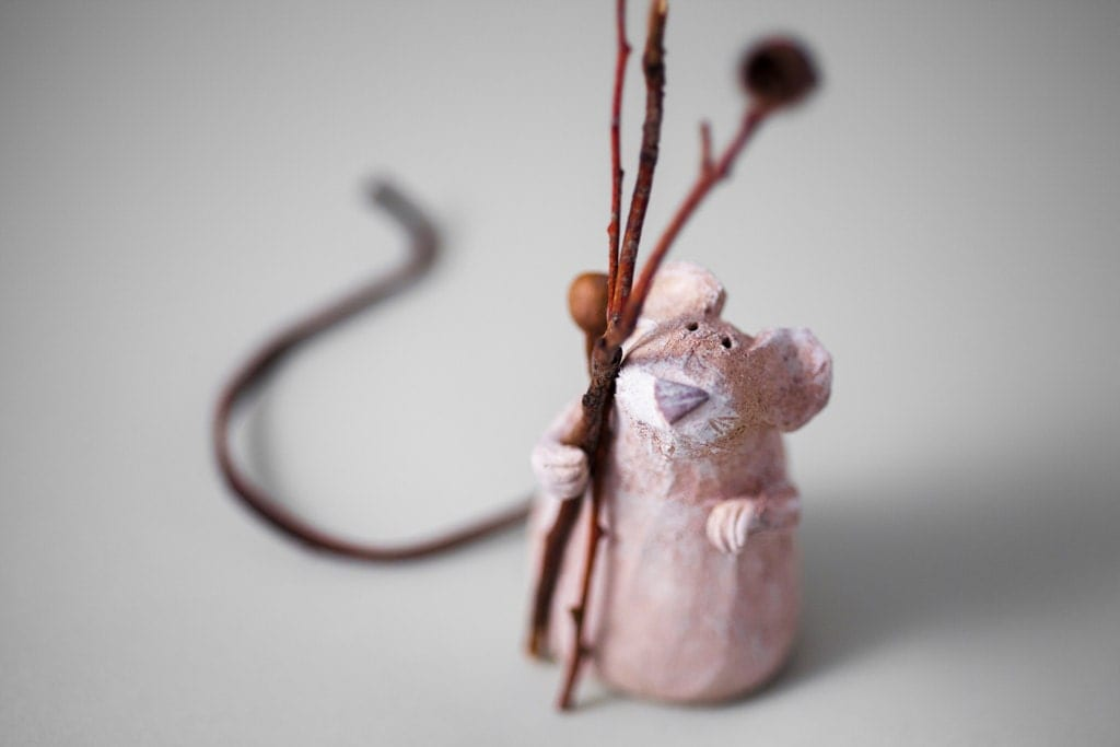 """The Nostalgic Poet"" Handmade Stoneware Sculpture by Murtiga"