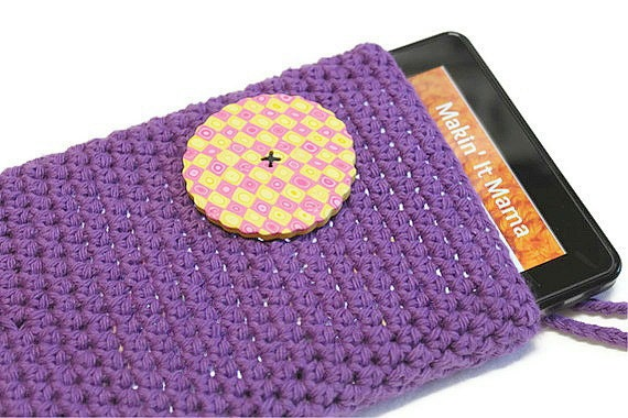 Crochet Kindle Sleeve, Kindle Case, Kindle Cover