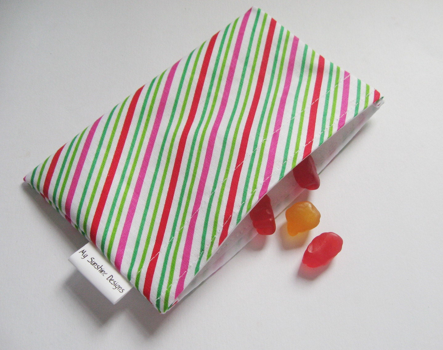Small Reusable Bag <br> Holiday Stripe