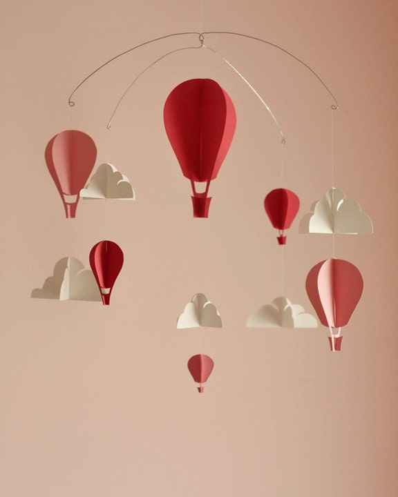 Customized Hot Air Balloon Paper Mobile (S) - HushHoneyCollective