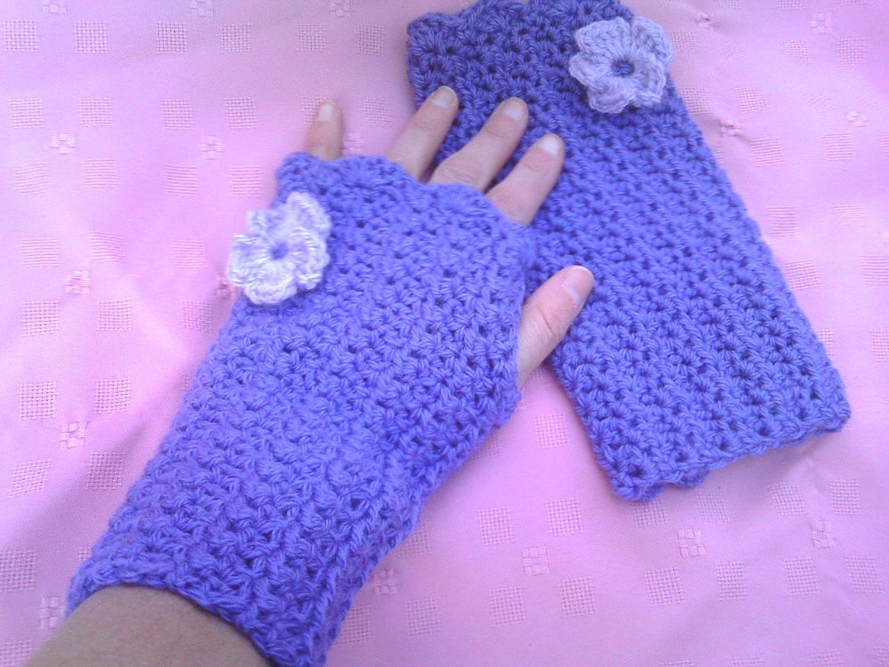 midnight knitter - punk crochet wrist warmers