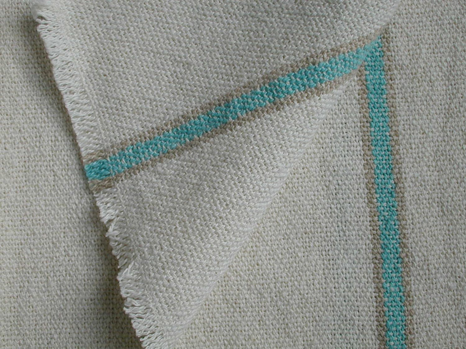 Aqua Memories Handwoven Cotton Kitchen Towel - HorseshoeNeckWeavers