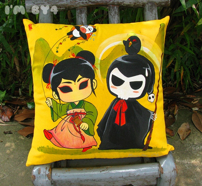 Hand Painted Art Decorative Pillow Cover 18 x 18,do you want to have a try