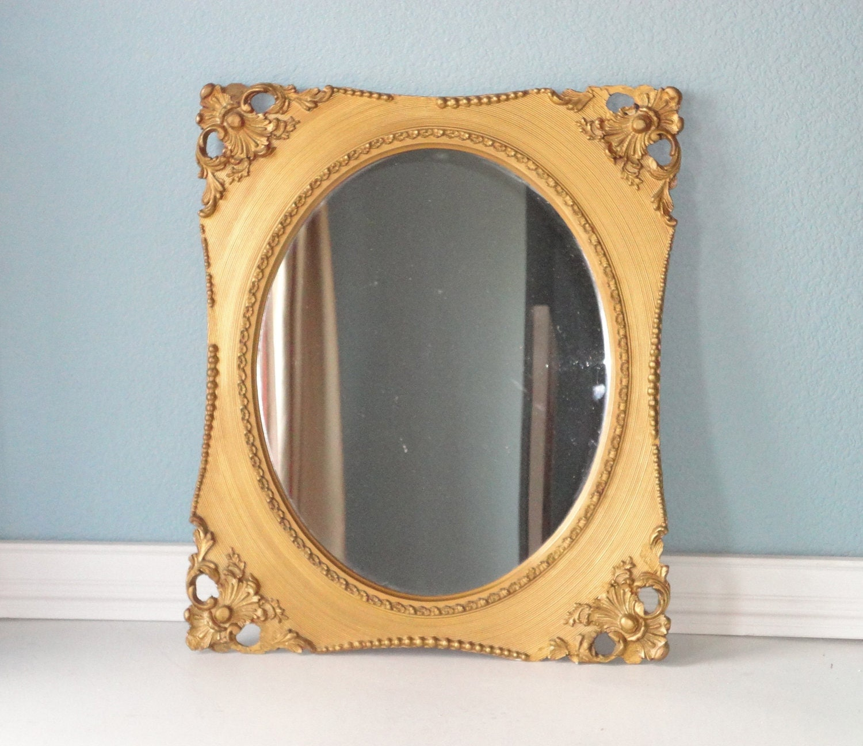 Chippy Antique Gold Mirror - TheArtofChic