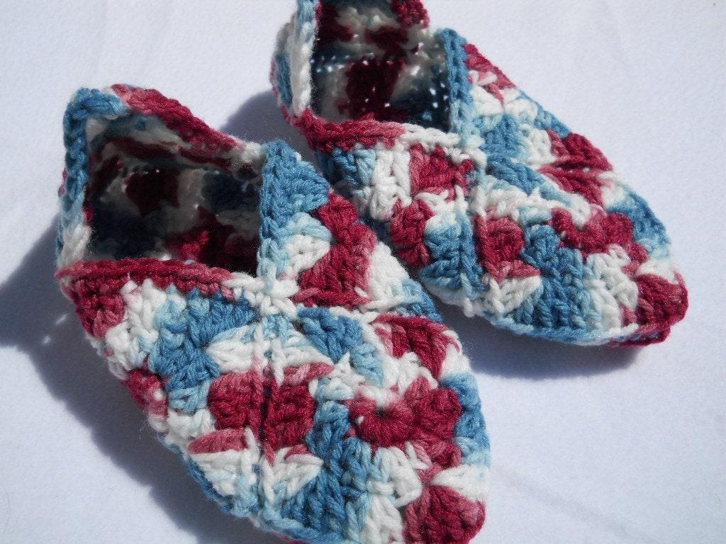 Crochet Granny Square Slipper Patterns : Crochet Granny Square Slipper ? Crochet Club