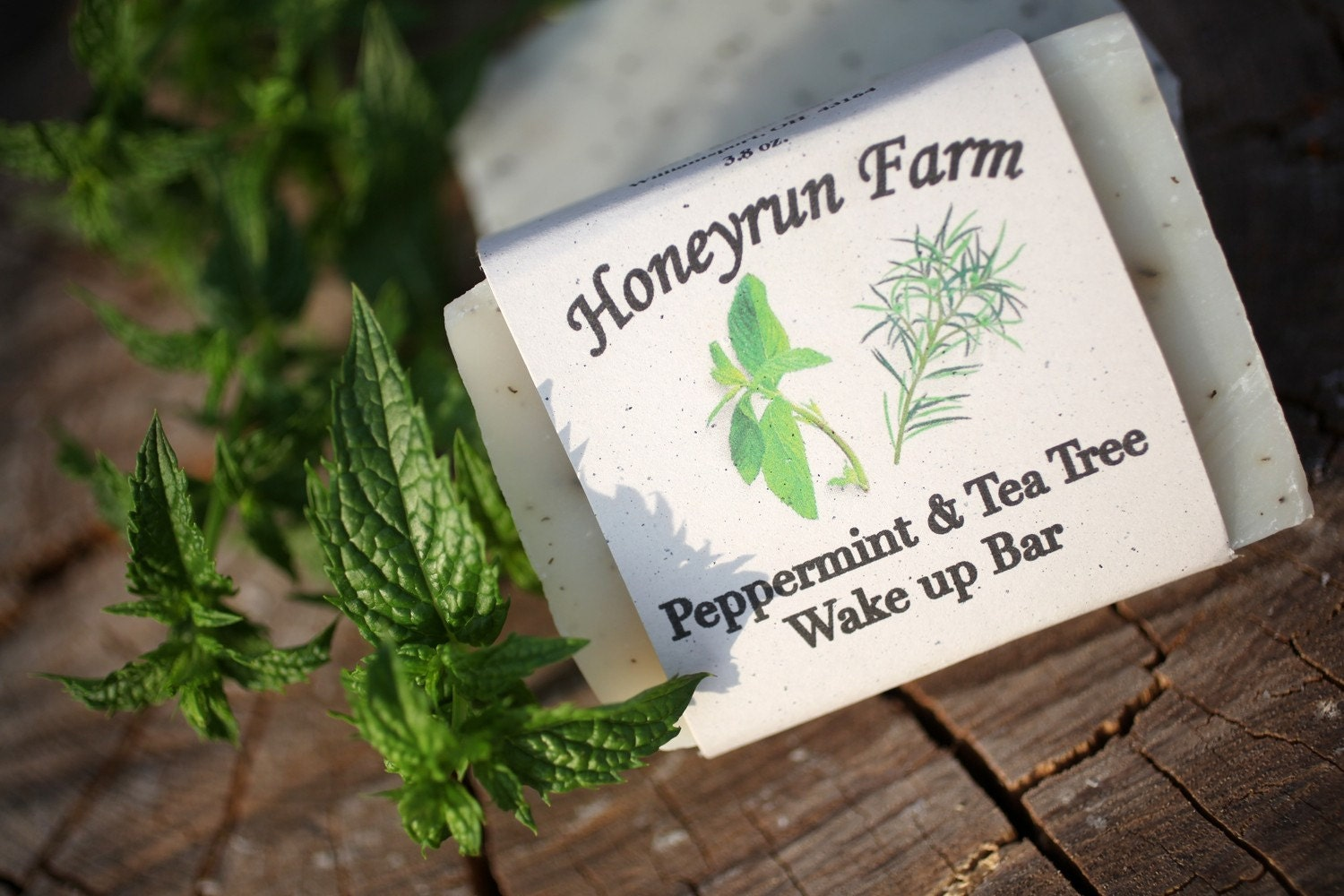 Peppermint & Tea Tree Wake Up Bar - made with honey and beeswax