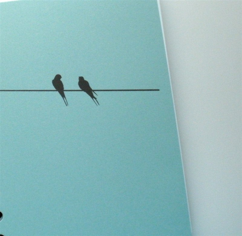 Lined Handmade Personalized Journal -- Birds on a Wire, Choose Cover Color - ArtfulRising