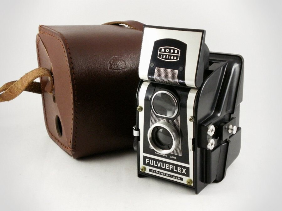 Ross Ensign Fulvueflex - Vintage 1950s Twin Lens Reflex 120 Camera - EcoRetroStore