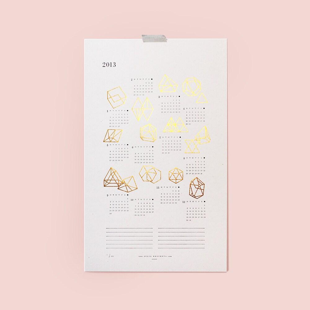 2013 Prisms Calendar - juliakostreva