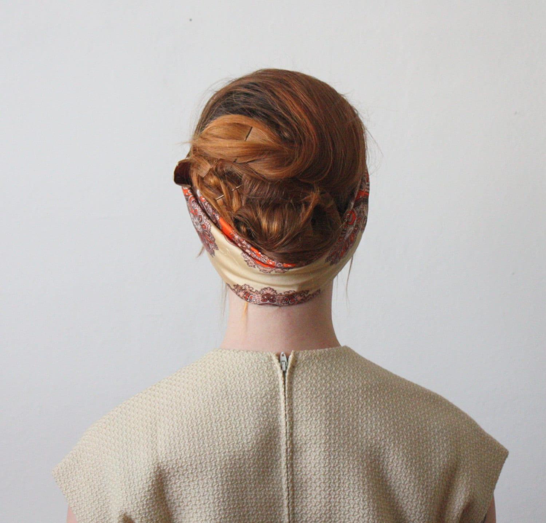 1960's mod paisley scarf - 1919vintage