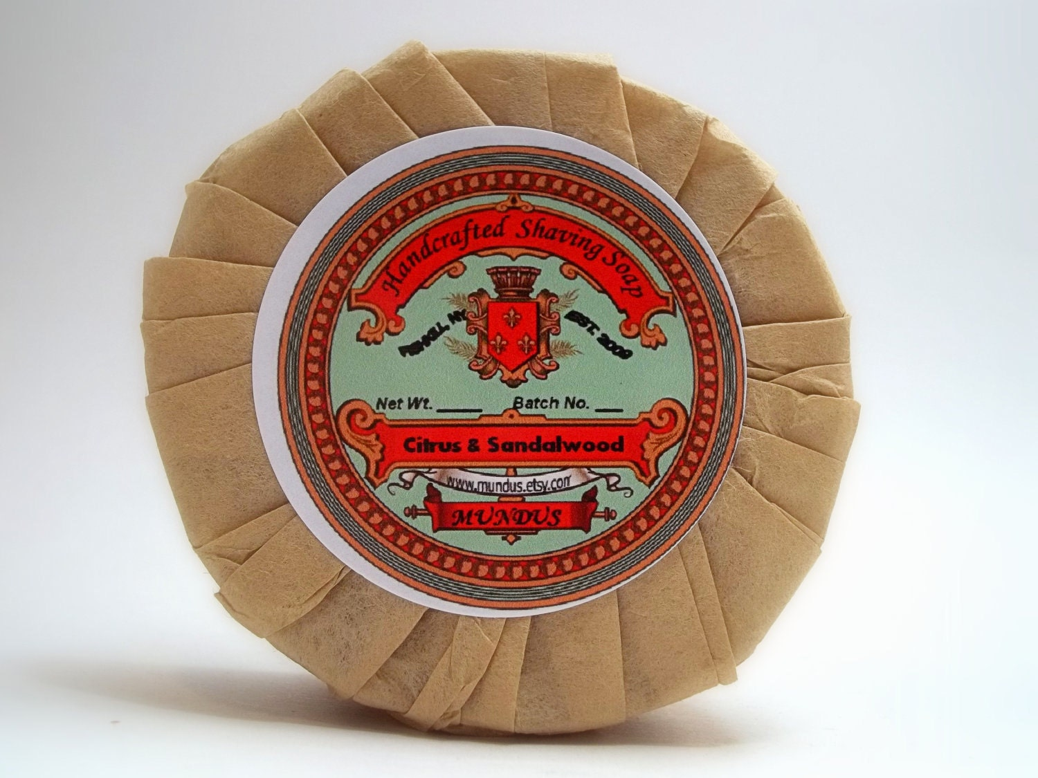 Citrus & Sandalwood: Tallow and Lanolin Shaving Soap - Mundus