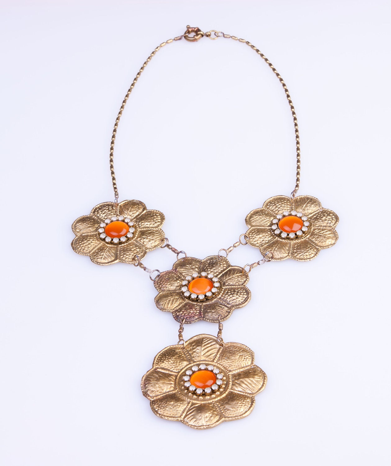 Indonesian necklace 4 flowers - VAMPbijoux