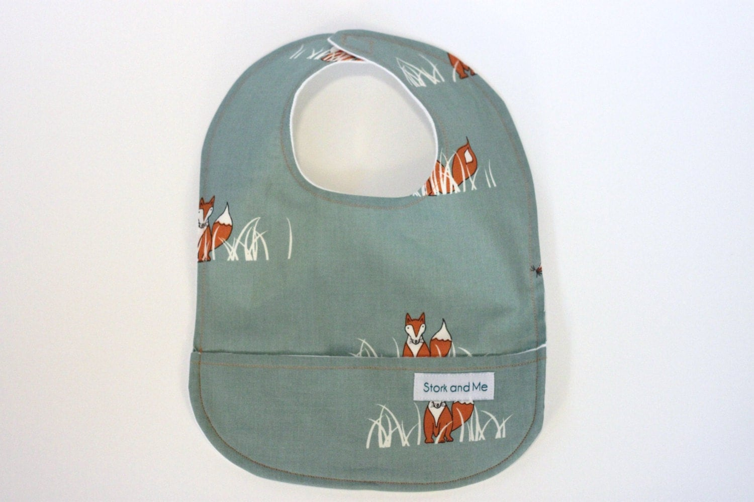 Organic Baby Bib, Pocket Bib, Foxes, Sly Fox