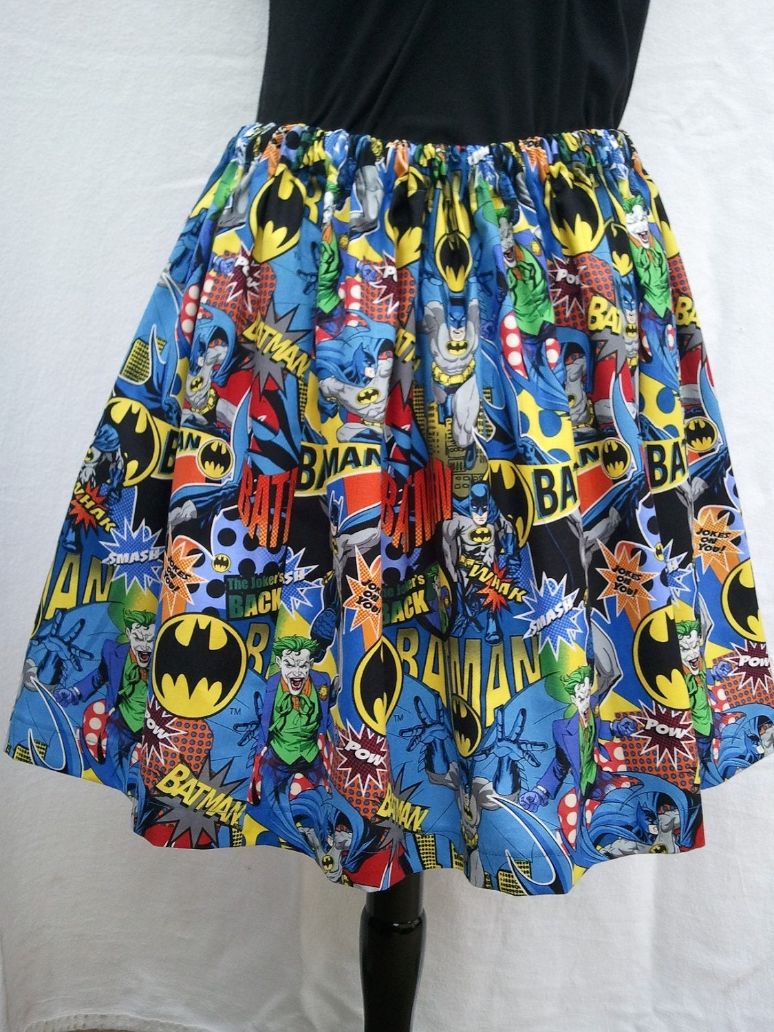 Women's Full Skirt Made From Batman Fabric Three Choices