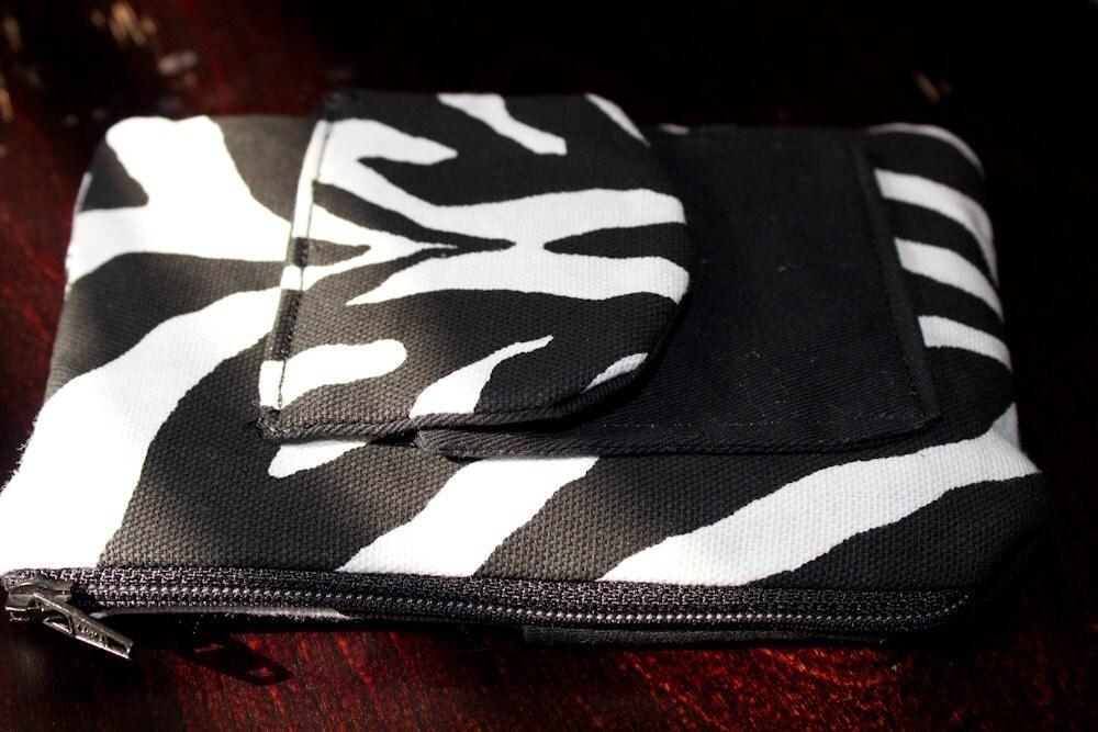 Zebra Print Cell Phone Gadget Case