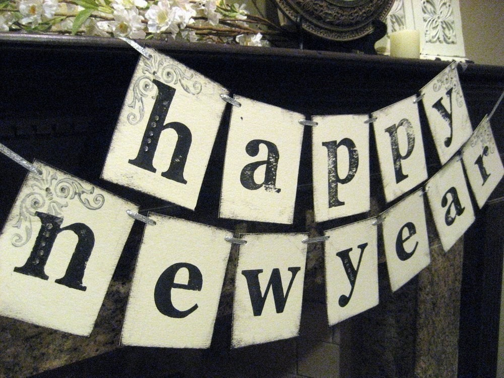 New Year Banner HAPPY NEW YEAR Banner Sign