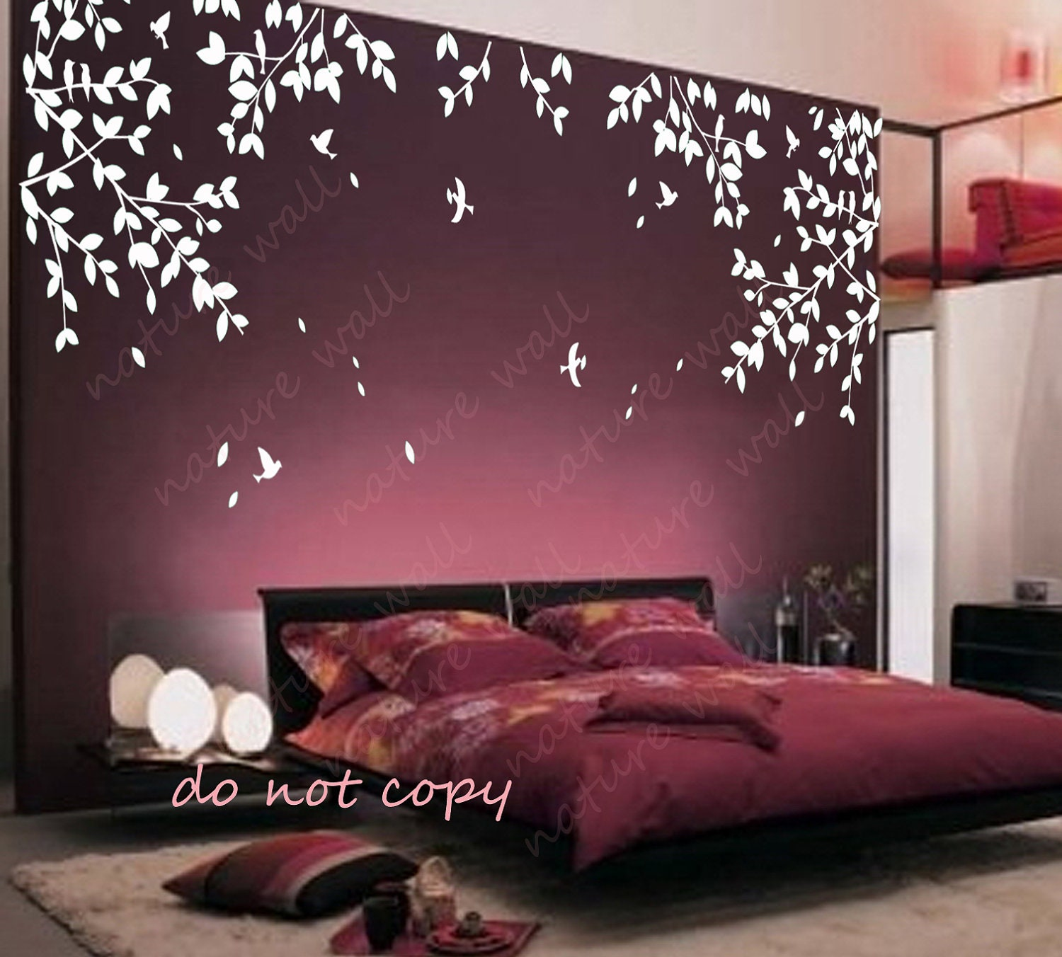 Wall decor made from branches interior decorating for Design wall mural