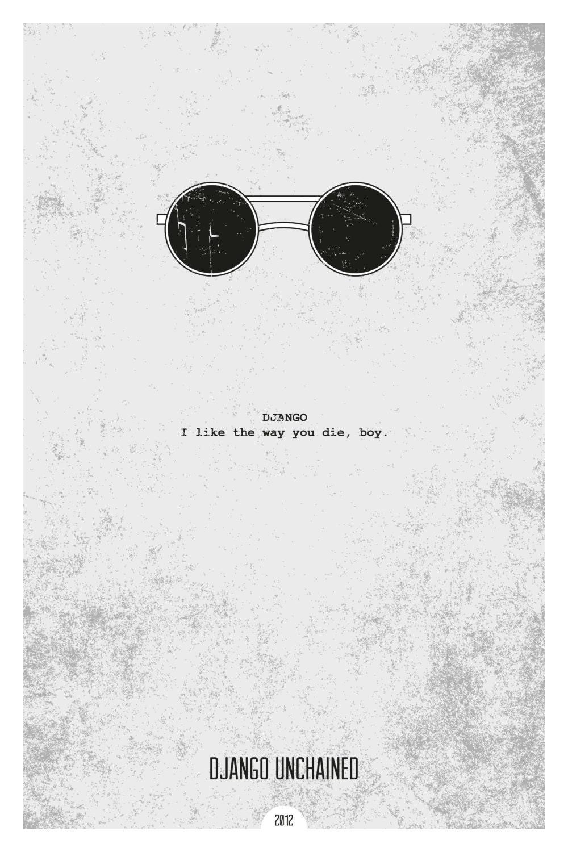 Minimalist movie poster - DJANGO UNCHAINED
