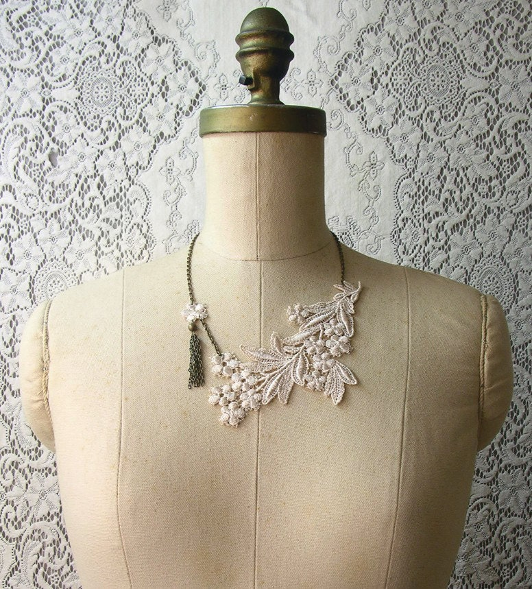 lace necklace -LYSE-