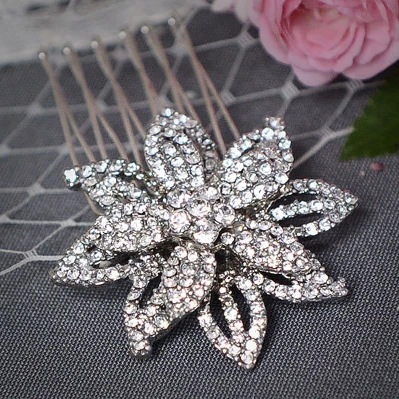 MELINDA Victorian Wedding Hair Comb Art Deco Hair Comb Swarovski Crystal