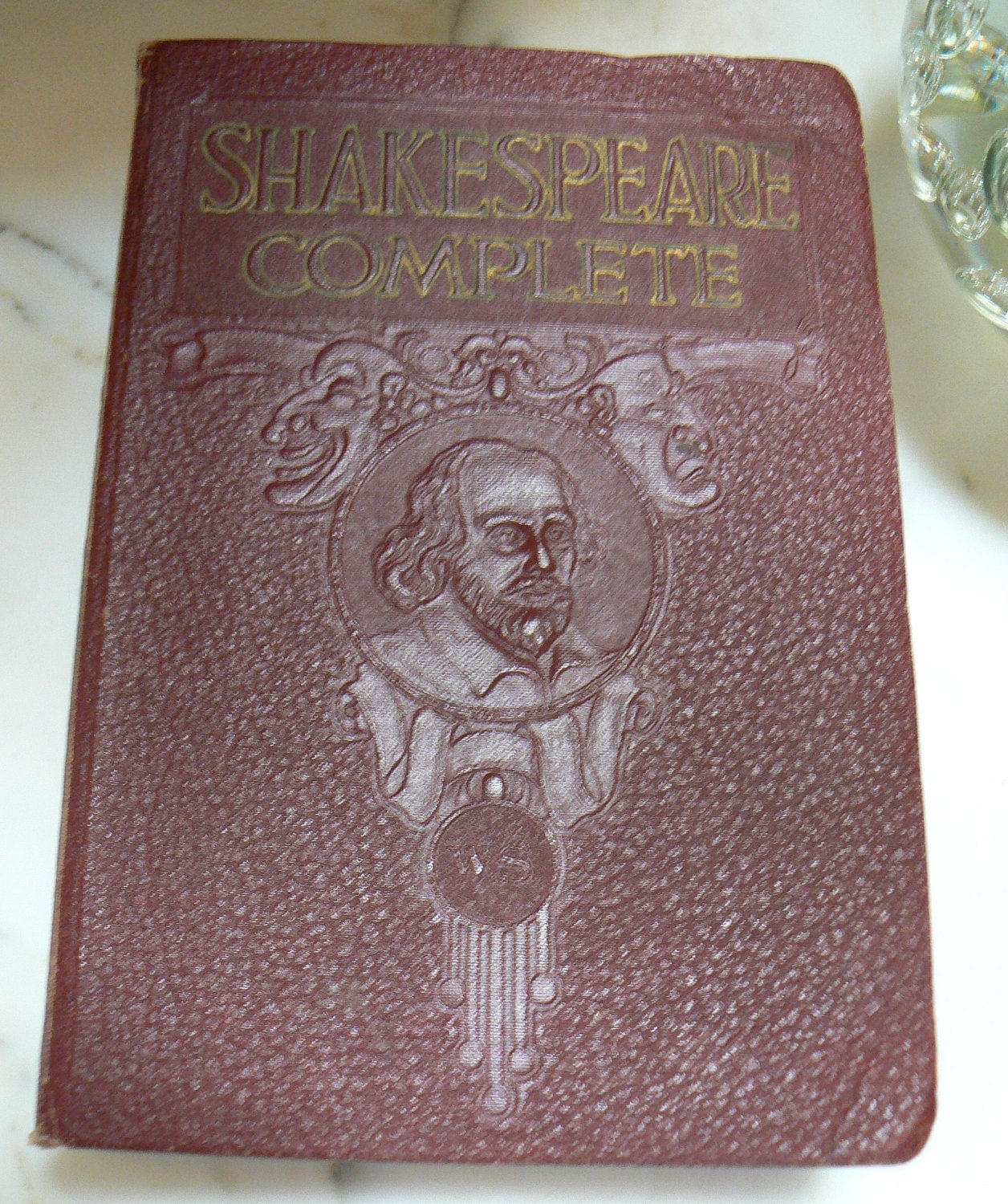 1930 Shakespeare Complete Works History Life and Notes Antique Book FREE SHIPPING