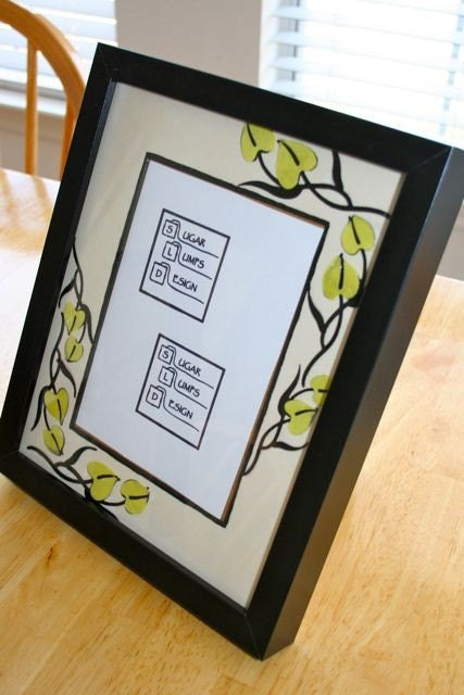 Decoupage Yellow Floral Frame