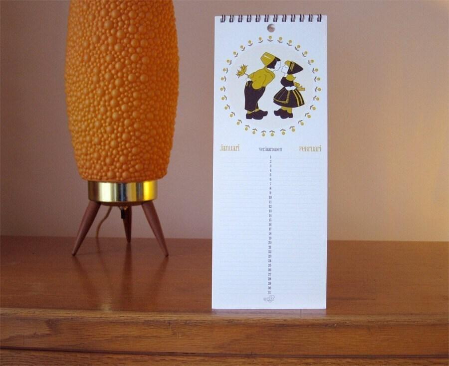 Dutch birthday calendar