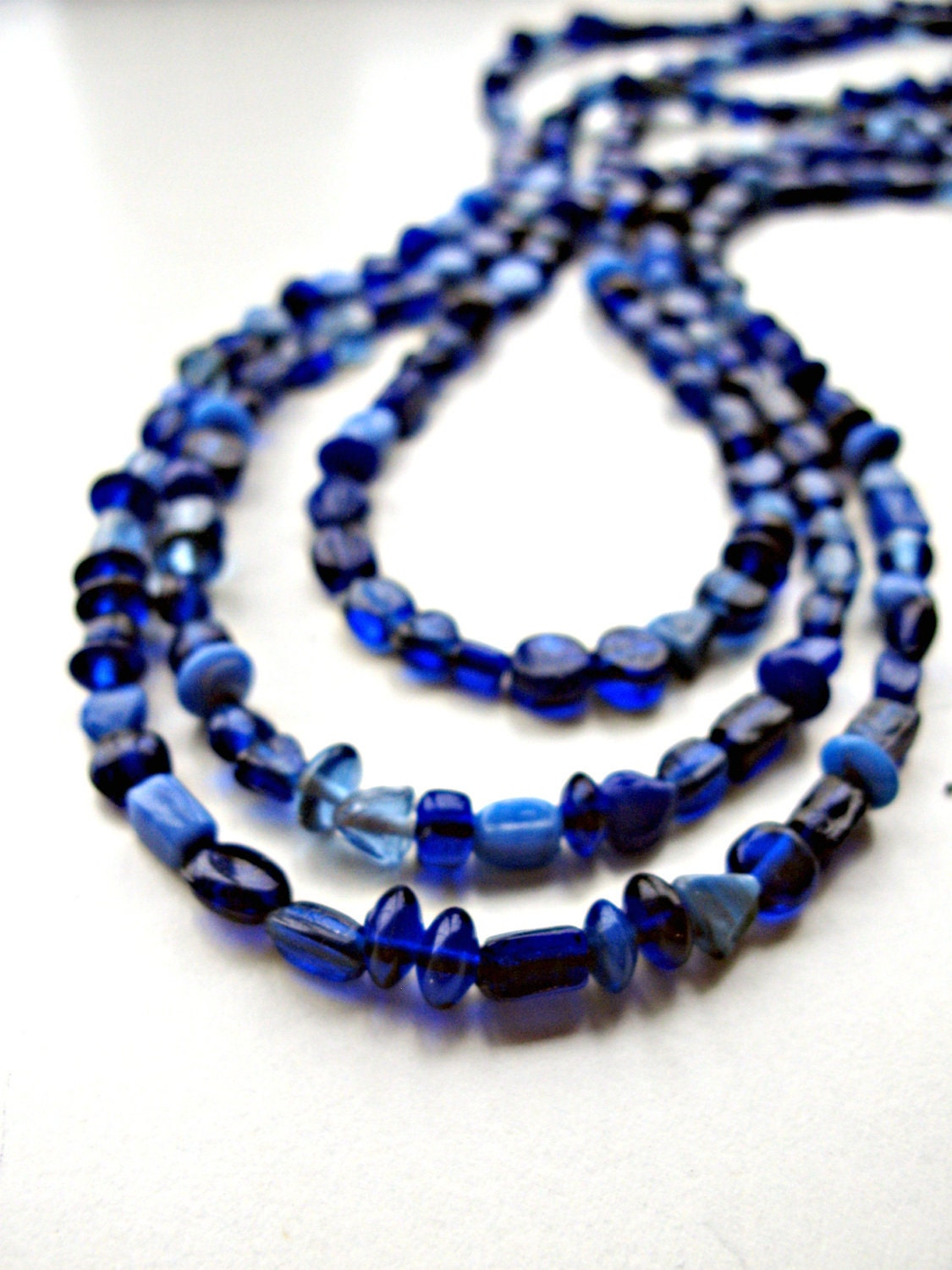 Multi-Strand Blue Beaded Necklace For Her Under 50, 25, 20