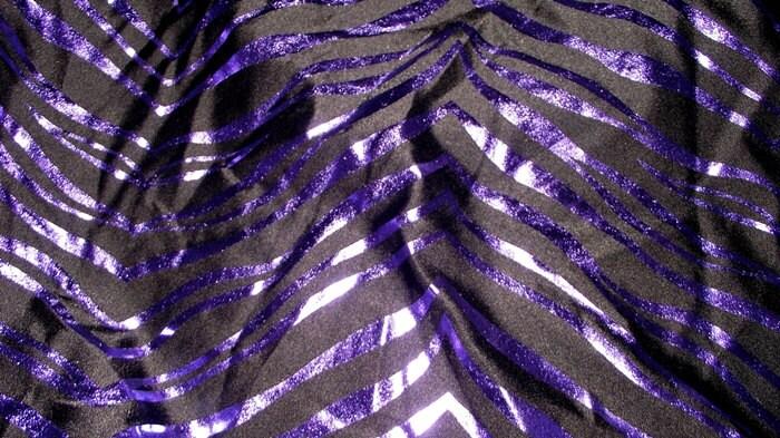 Running Headband Purple Metallic Zebra