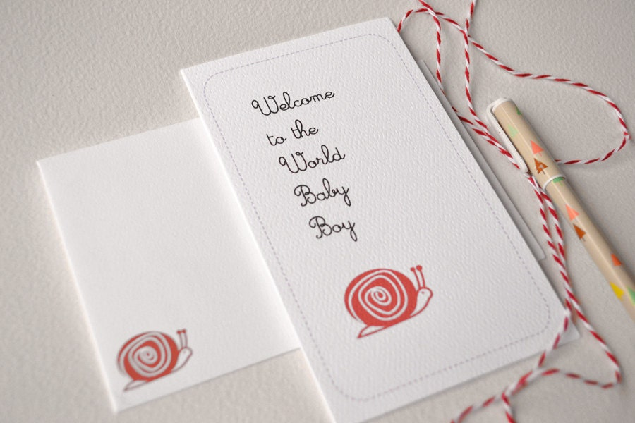 New Baby Card - Welcome to the World Baby Boy