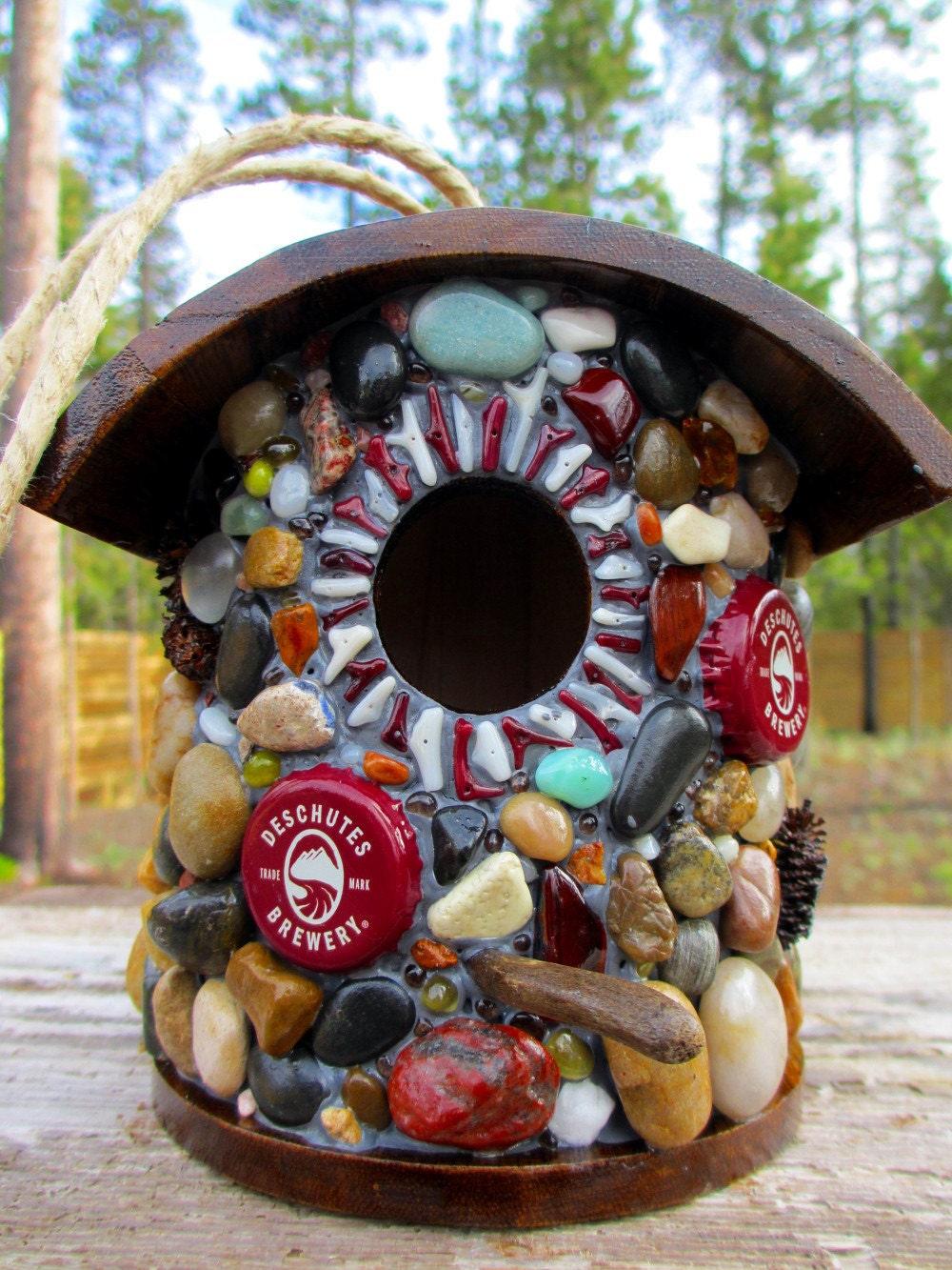 Beer Cap Birdhouse featuring Deschutes Brewery