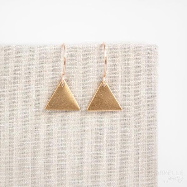 small geometric triangle earrings