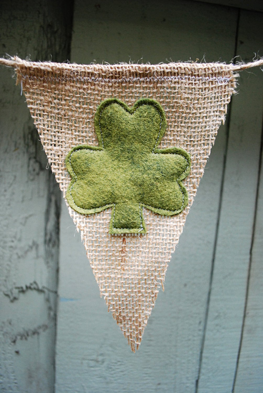 Small St. Patrick's Day Burlap Bunting/Pennant/Banner