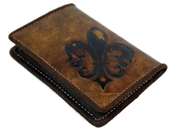 Vintage Fleur De Lis Credit Card Wallet - Flewal