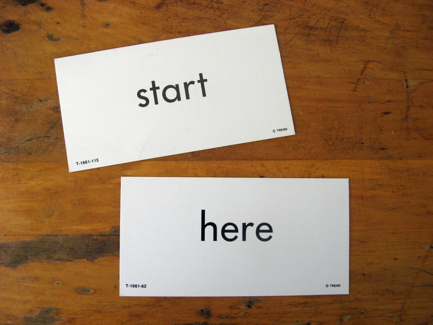 Vintage Flashcards Start Here Sight Words - TacynotTracy