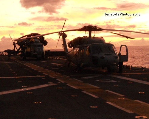 Fine Art Photography Home Decor USS Boxer Military Assault Ship - TerraBytePhotography