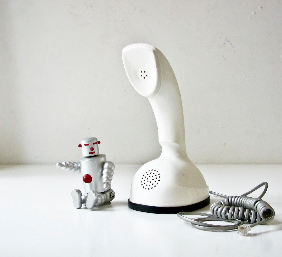 Mid Century Modern White Phone - BeeJayKay