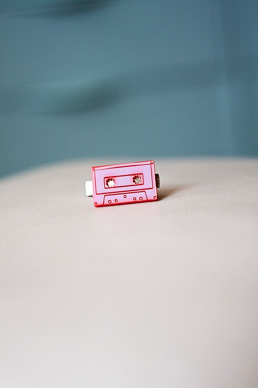 Cassette Tape Tie Bar in Red for Child or Adult