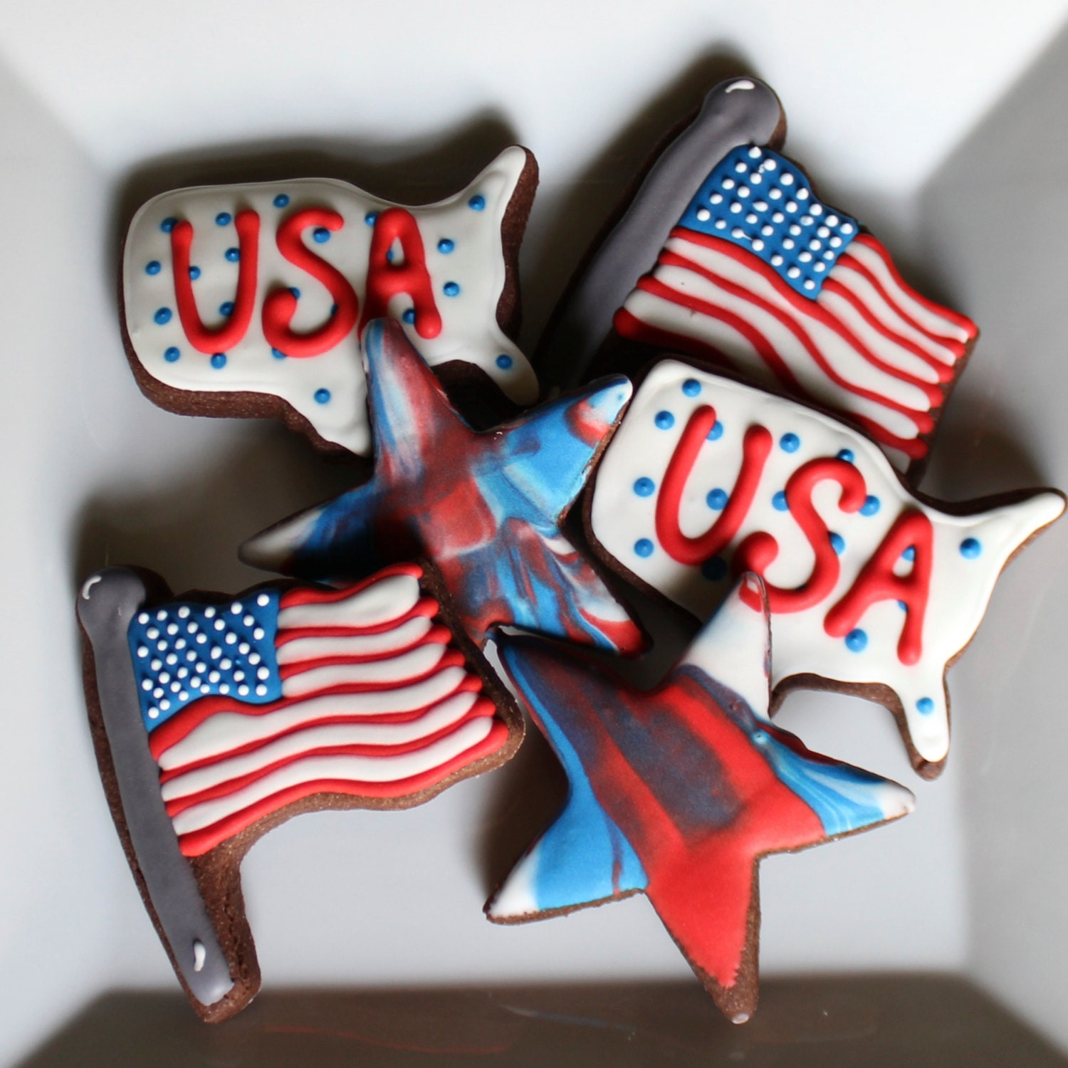 Fourth of July Cookies / USA Cookies  / America Cookies - BitesBakedGoods