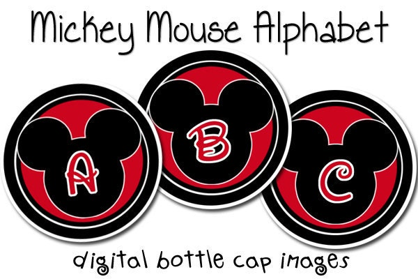 Free Printable Mickey Mouse Letters | just b.CAUSE